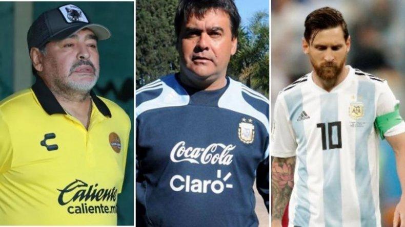 """La emotiva despedida de Maradona y Messi para el inolvidable """"Tata"""" Brown"""