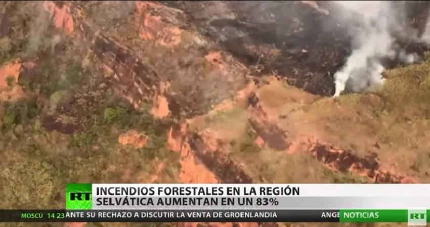 La Amazonía brasileña sufre la devastación de 16 días de incendios forestales