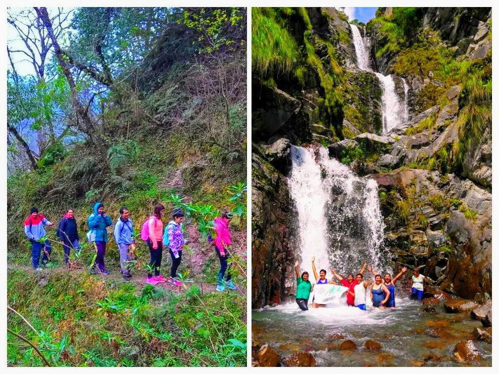 Trekking para la Cascada La Horqueta