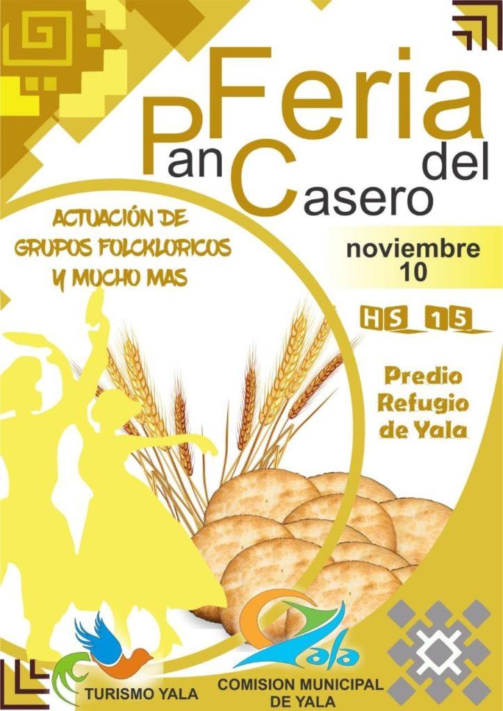 Yala: el próximo domingo se realizará la Feria de Pan Casero y Artesanías