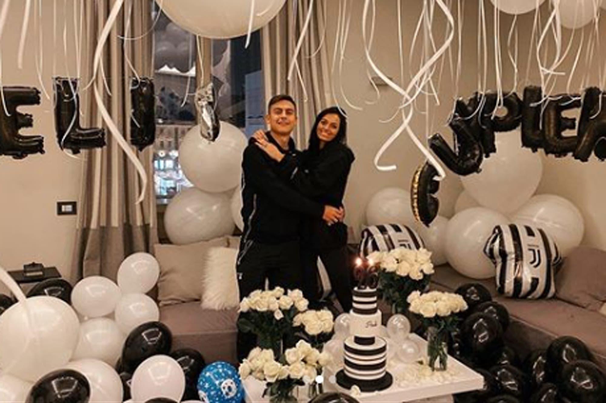 La fiesta sorpresa de Oriana Sabatini para Paulo Dybala por su cumpleaños