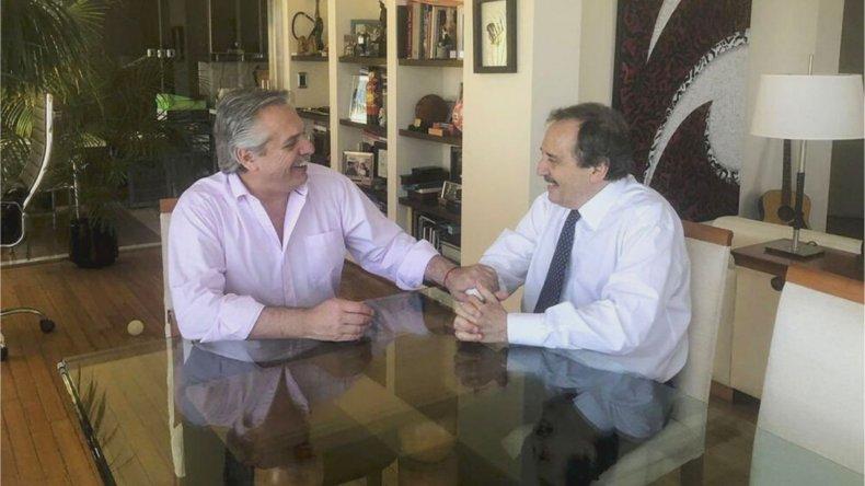 """Fernández y Alfonsín coincidieron en la necesidad del esfuerzo conjunto para """"sacar el país adelante"""""""
