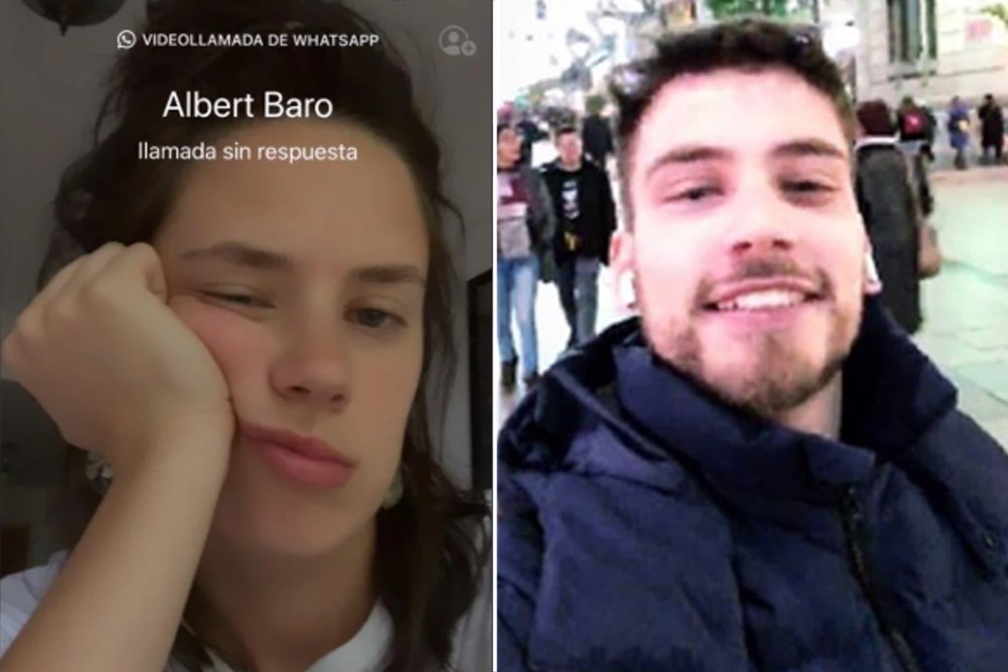 El divertido intercambio de reclamos entre Delfina Chaves y Albert Baró por una videollamada