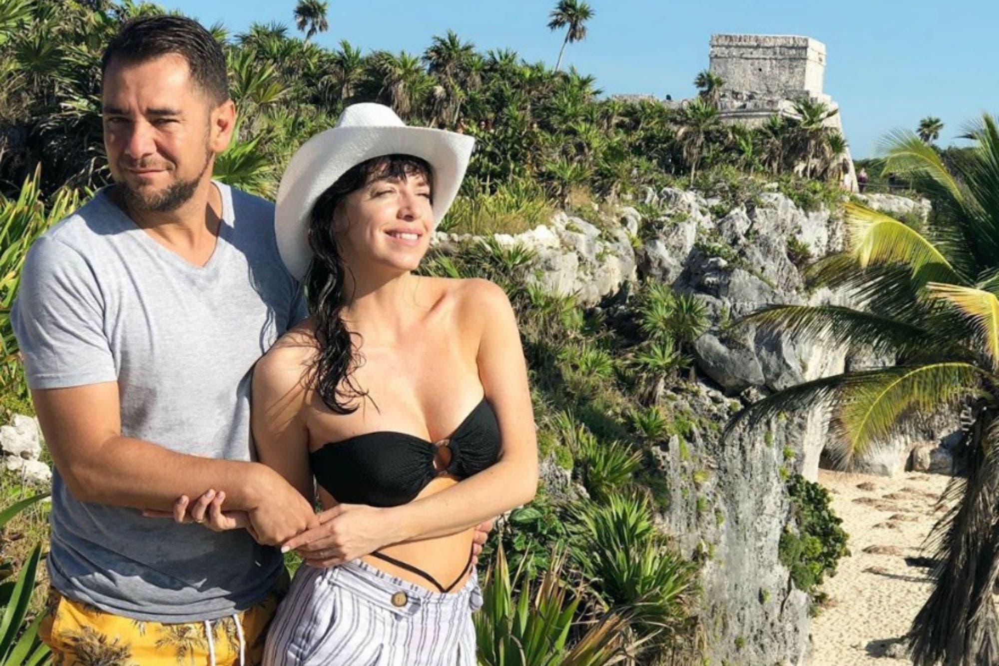 Mercedes Funes y Cecilio Flematti disfrutan de su luna de miel en Playa del Carmen
