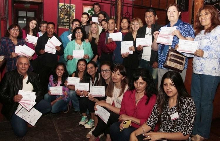 Entrega de certificados de Inglés Turístico