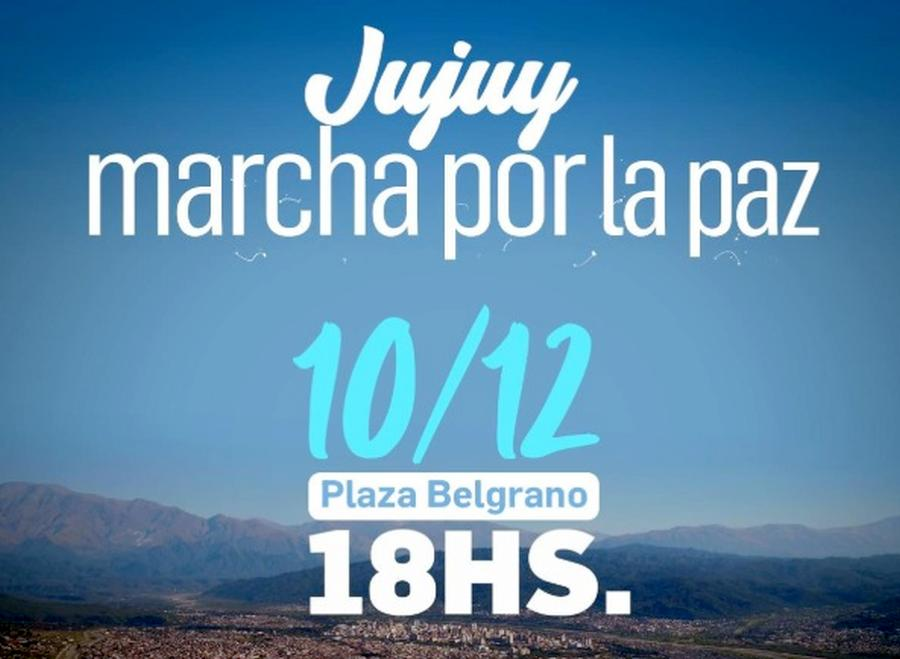 Jujuy marchará por la paz