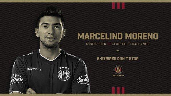 Marcelino Moreno fue presentado en Atlanta United y reemplaza la salida del Pity Martínez a Arabia