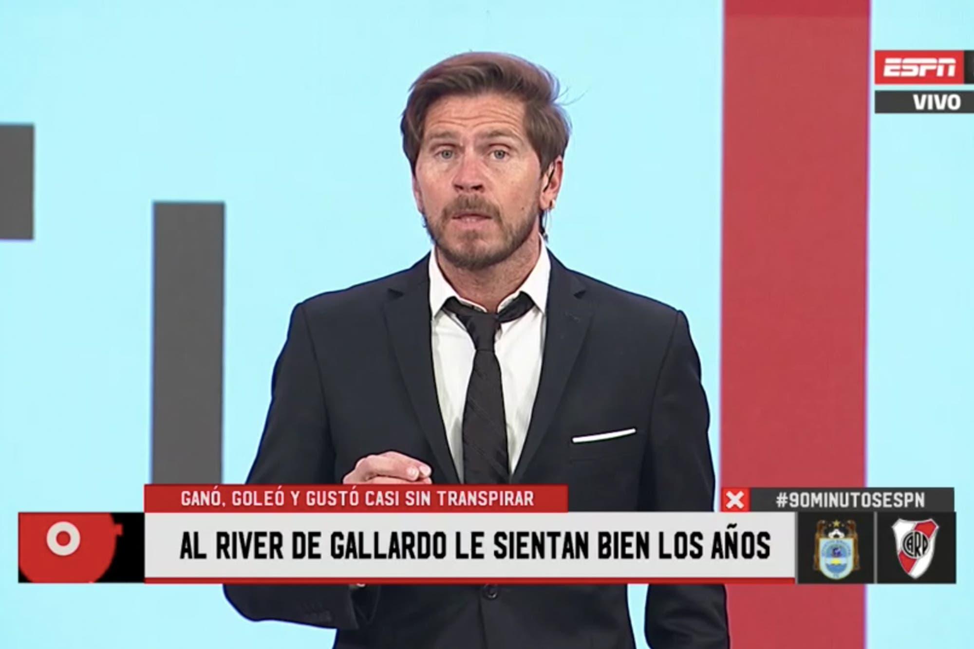 """Pollo Vignolo, deslumbrado con el River de Marcelo Gallardo: """"Puede salir sin barbijo"""""""