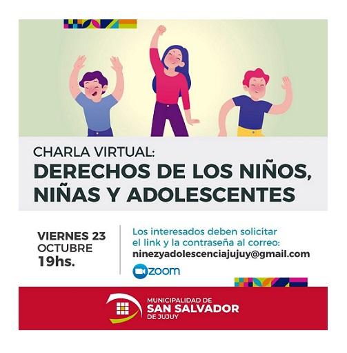 Charla virtual sobre los derechos de los niños, niñas y adolescentes