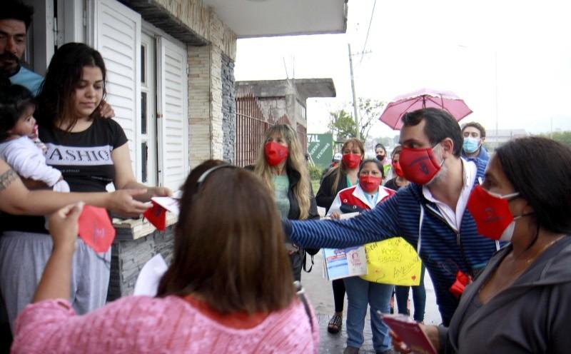 Se inauguró un nuevo Banco Rojo en el barrio Alto Comedero