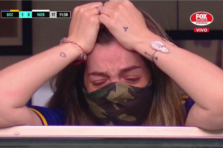 La emoción de Dalma Maradona en el homenaje a Diego en la Bombonera