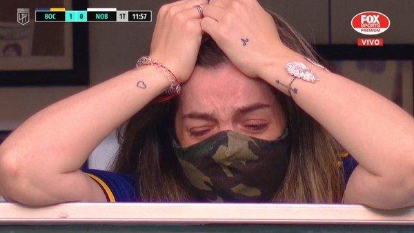 Murió Diego Maradona: el llanto desconsolado de Dalma en la Bombonera por los homenajes al Diez