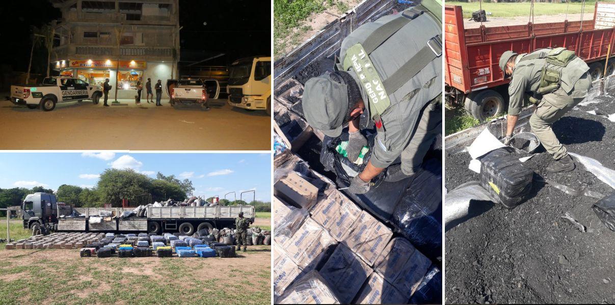 salio-de-jujuy:-un-camion-llevaba-oculto-mas-de-1.928-kilos-de-hojas-de-coca-en-un-cargamento-de-carbonilla