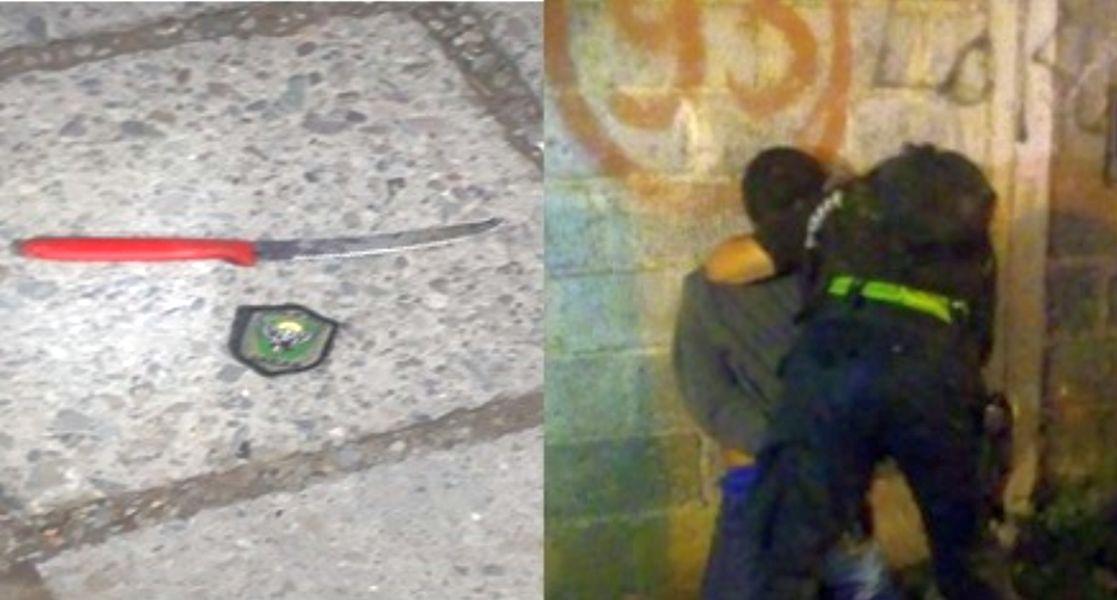 un-sujeto-fue-arrestado-tras-robar-una-rueda-de-auxilio-e-intentar-lesionar-a-los-policias-con-un-arma-blanca