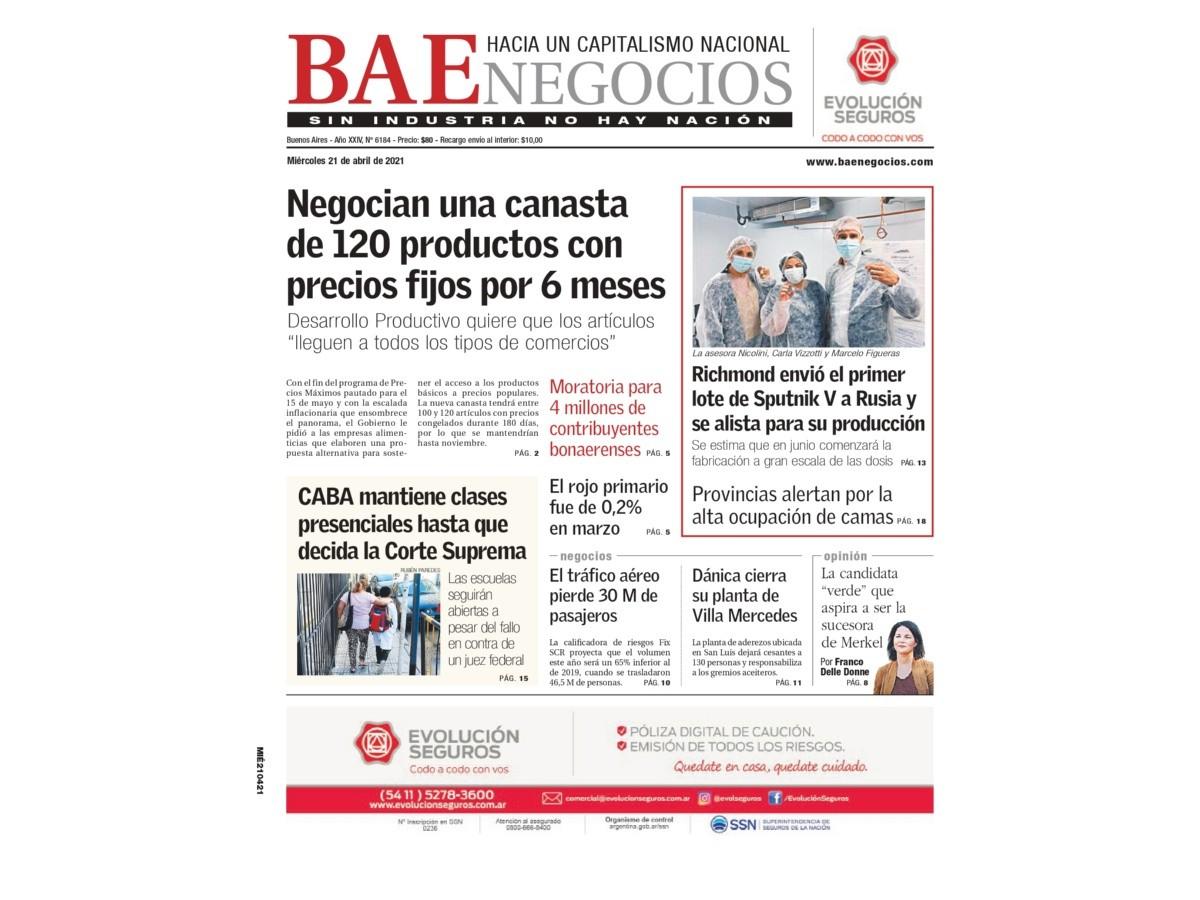 clases-presenciales-en-caba,-vacunas-sputnik-en-argentina,-precios-fijos-y-deficit-primario:-los-temas-del-dia-en-bae-negocios